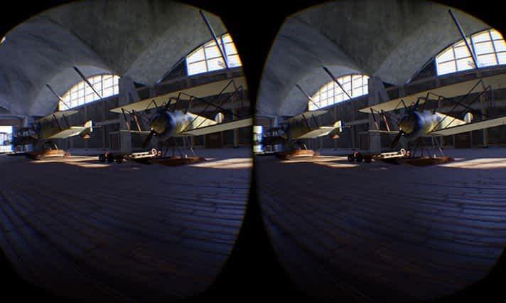 Lennusadama vesilennukite angaari ajaloo VR simulatsioon (VR režii)