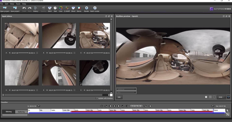 Autopano stitch õenduse virtuaalreaalsus